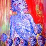 Mujer con piñas